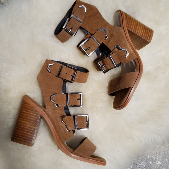 4763ee358da Sol Sana  Jona  suede stacked heel sandal. M 5b33f3d33e0caa6b9d5a521f